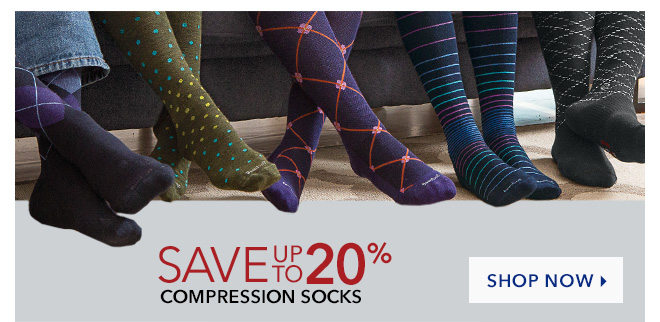 Save Up To 20% On Compression Socks - Shop Now |